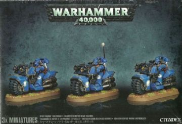 Games Workshop Warhammer 40000 40K Space Marine Bike Squad 48-11